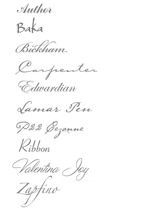 10 Nice Script Fonts