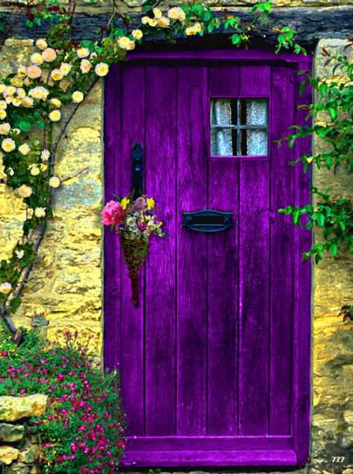 beautiful mozaic violet painting interior doors | Outrageous Happiness #16: Purple Doors and Other Beautiful ...