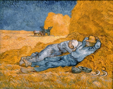 Noon - Rest from Work (after Millet) / Vincent van Gogh / 1890